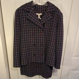 Amanda Smith Tweed Skirt Suit Size 16